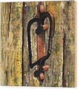 Wrought Iron Handle Wood Print
