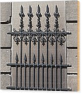 Wrought Iron Window Grille Wood Print
