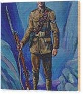 Ww 1 Soldier Wood Print
