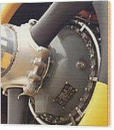 Ww II Airplane Engine Wood Print