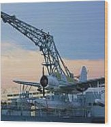 Ww II Sea Plane Wood Print