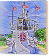 Ww II Submarine Memorial Wood Print