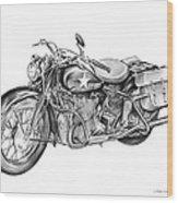Ww2 Military Motorcycle Wood Print