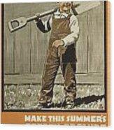 Wwi Farming C1915 Wood Print