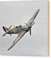 Wwii Fighter Plane The Hurricane Wood Print