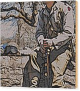 Wwii Soldier Two Wood Print