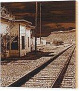 Rails West Wood Print