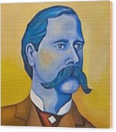 Wyatt Earp Wood Print