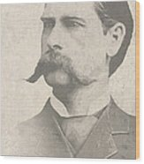 Wyatt Earp U. S. Marshal Wood Print