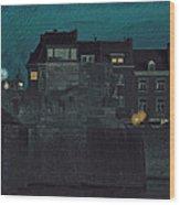 Wyck By Night Wood Print by Nop Briex