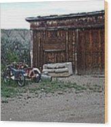 Wyoming Backroads Wood Print
