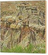 Wyoming Badlands Landscape Three Wood Print