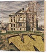 Wyoming Capitol Building Wood Print
