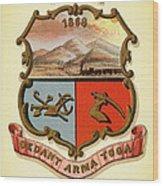 Wyoming Coat Of Arms - 1876 Wood Print
