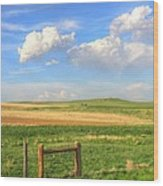 Wyoming Landscape Wood Print