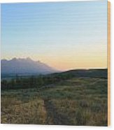 Wyoming Landscapes Wood Print