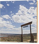 Wyoming Ranch Wood Print
