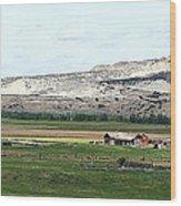 Wyoming Ranch Wood Print
