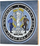 Wyoming State Seal Wood Print