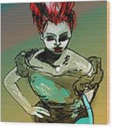 Wyrd Girl Wood Print