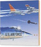 X-15 Launch Wood Print