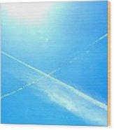 X In The Sky Wood Print