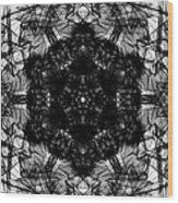 X-ray Of A Snowflake Wood Print
