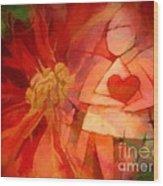 Xmas Angel Wood Print