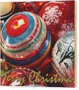 Xmas Card 1 Wood Print