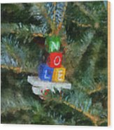 Xmas Noel Ornament Photo Art 01 Wood Print
