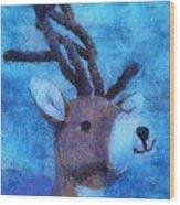 Xmas Reindeer 01 Photo Art Wood Print