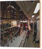 Xmas Train Float Wood Print