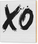Xo Poster White Wood Print