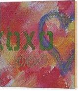 Xoxo Wood Print