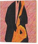 Xtra Large Sax Wood Print