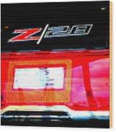 Xxl Chevrolet 2014 Z28 Tail Light Wood Print