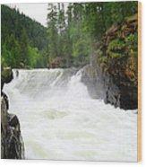 Yaak Falls Wood Print