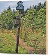 Yachats  Oregon - Blue Birdhouse Wood Print