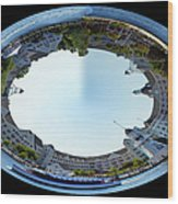 Yacht And Beach Club Walt Disney World Oval Image Wood Print