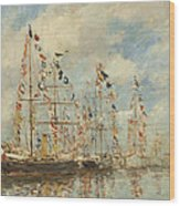 Yacht Basin At Trouville Deauville Wood Print