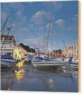 Yacht Club Wood Print