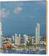 Yachts And Modern Cartagena Wood Print