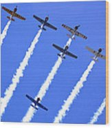 Yak 52 Formation Wood Print by Phil 'motography' Clark