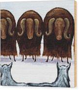 Yak Line Wood Print