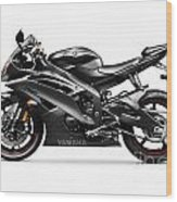 Yamaha R6 Supersport Motorcycle Wood Print