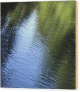 Yamhill River Abstract 24849 Wood Print