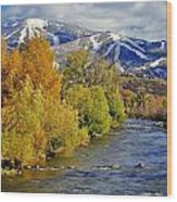 Yampa River Fall Wood Print