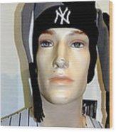 Yankee Fan Wood Print