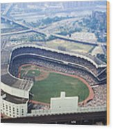 Yankee Stadium Aerial Wood Print by Retro Images Archive