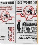 Yankees 4th Straight - Modern Wood Print